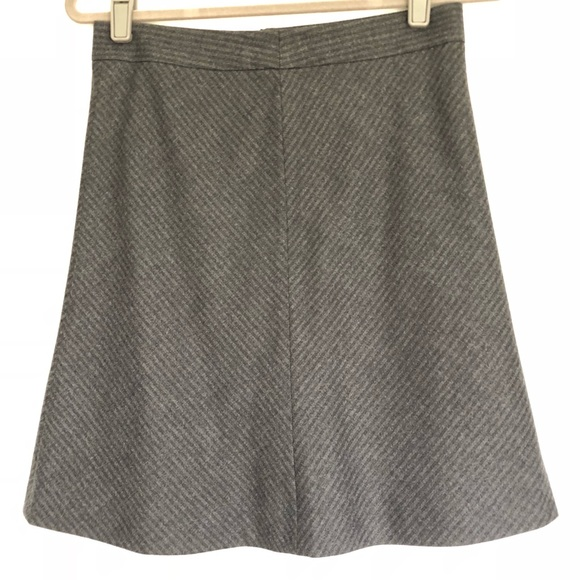 f77ac2a352 Theory Skirts | Grey Wool Striped Skirt | Poshmark